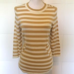The Limited gold and cream womens sweater small